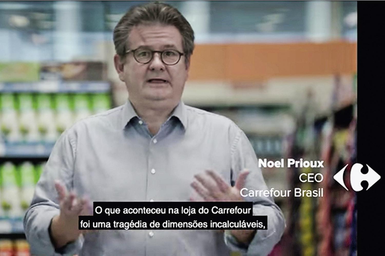 REAÇÃO -Noel Prioux, CEO do Carrefour: pedido de desculpas no horário nobre -