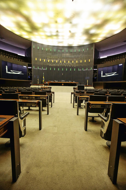 PARALISIA -Plenário vazio: em dois meses, parlamentares realizaram apenas cinco sessões -
