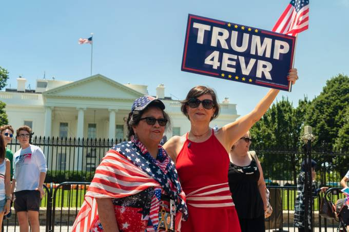 Presidet Donald Trump Supporters at White House Rally