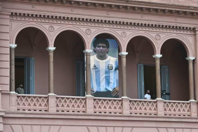 Foto de Maradona foi colocada na Casa Rosada