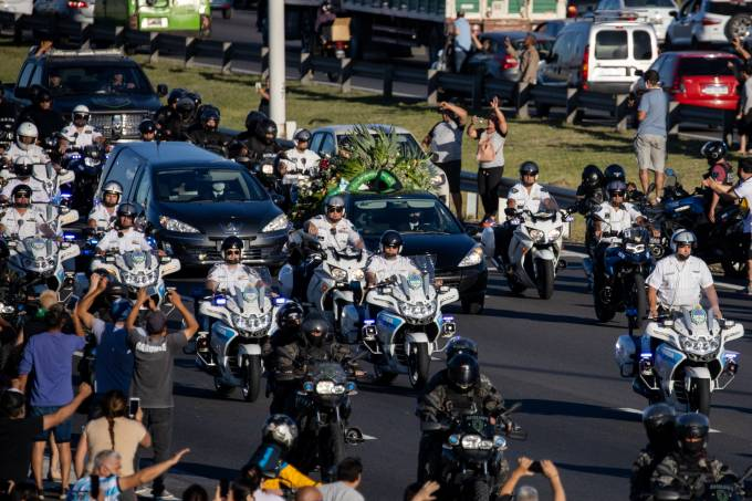 Diego Maradona's Funeral Held As Fans Grieve Around The World