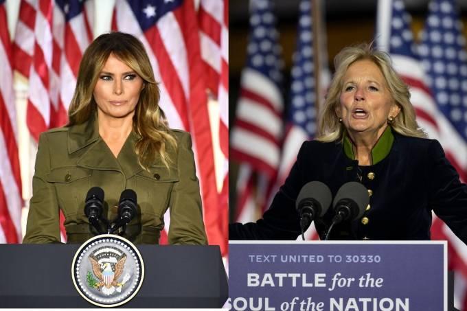 Melania Trump e Jill Biden