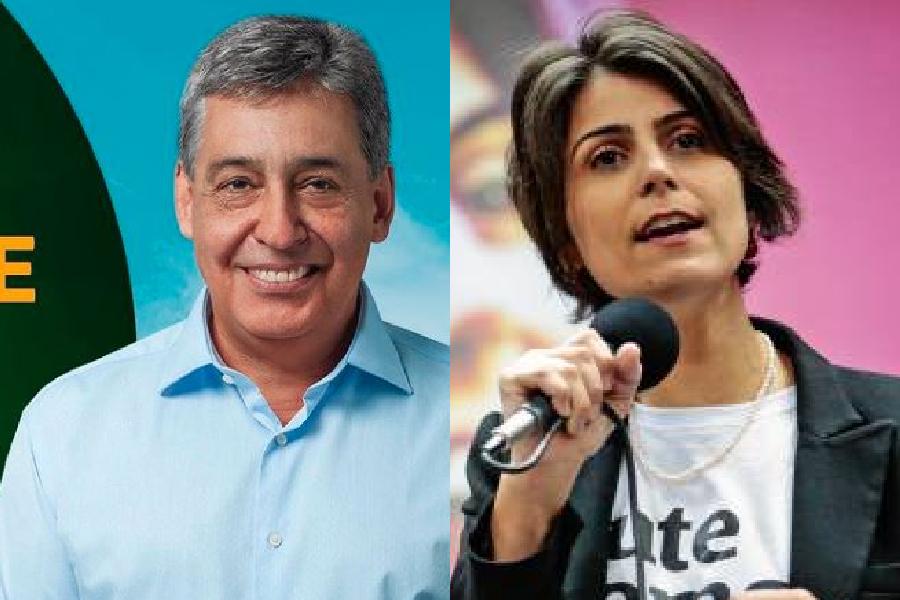 Sebastião Melo (MDB) e Manuela D´Ávila (PCdoB)
