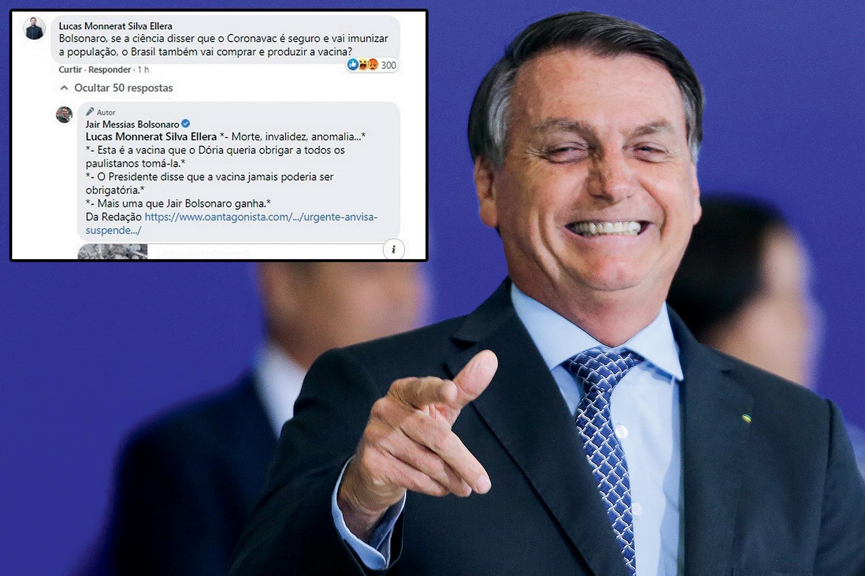 """COMEMORAÇÃO -O presidente e a mensagem chocante na rede social: """"Mais uma que Bolsonaro ganha"""" -"""