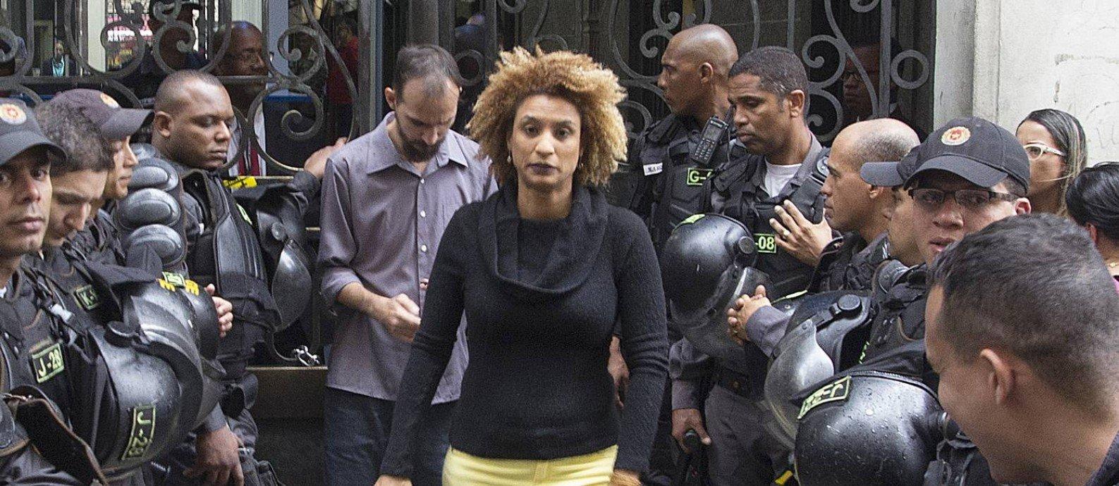 A vereadora Marielle Franco, assassinada em março de 2018
