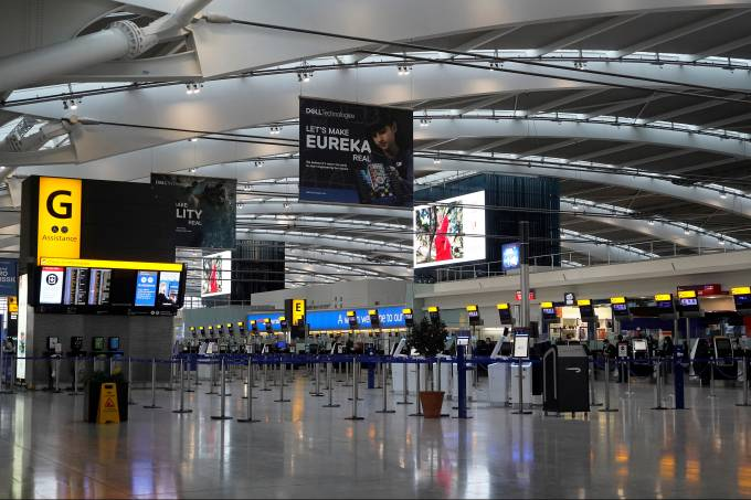 Aeroporto de Heathrow, em Londres
