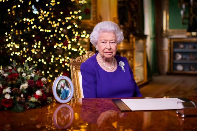 A rainha Elizabeth II em sua transmissão de Natal de 2020
