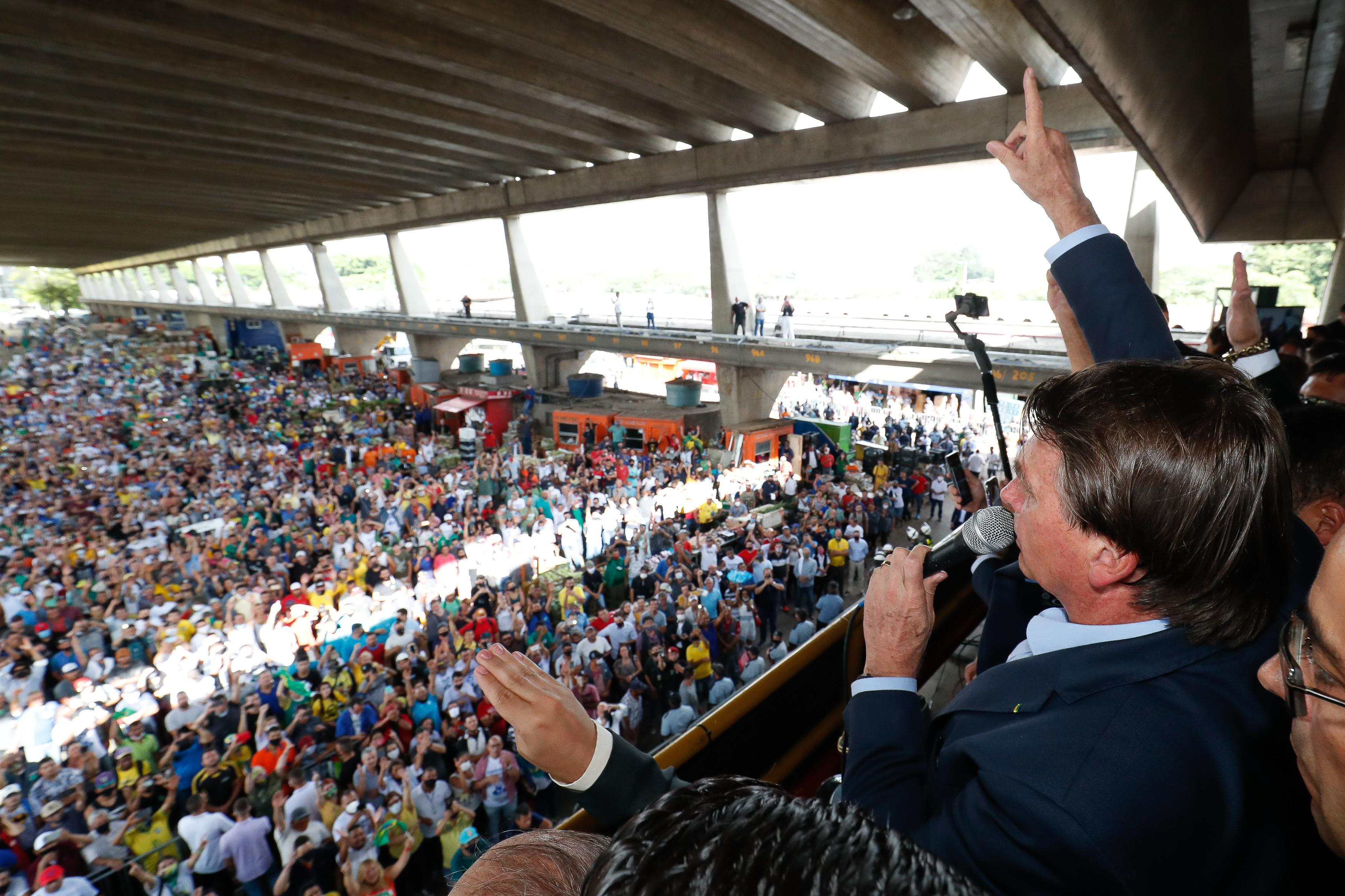 Presidente Jair Bolsonaro em evento no Ceagesp