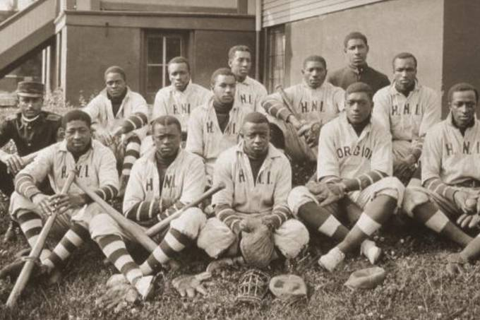Integrantes do time de beisebol do Instituto Negro, em 1905