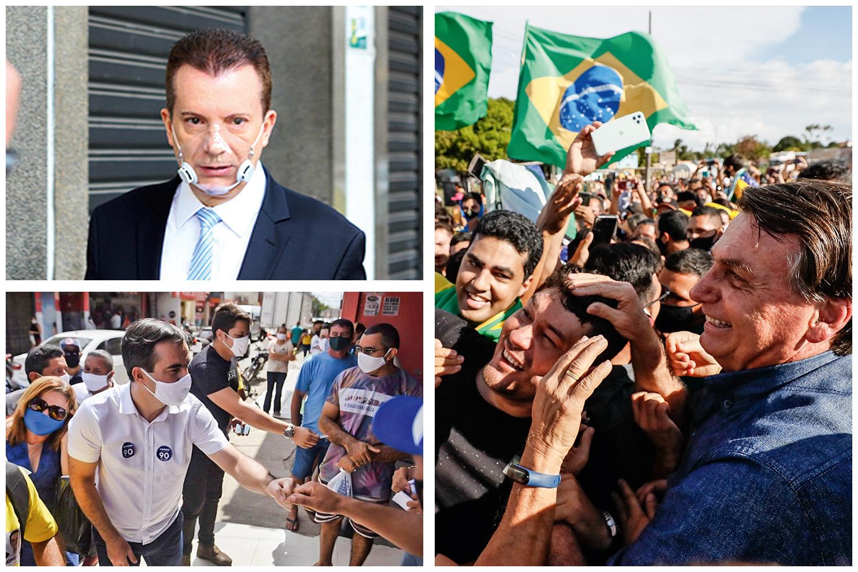 DEU RUIM -Bolsonaro: derrotas com os apoios a candidatos como Russomanno, em São Paulo, e Capitão Wagner, em Fortaleza -