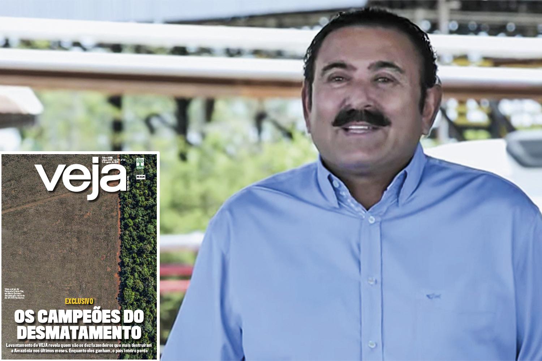 IMPUNIDADE - Nogueira, multado em 50 milhões: em julho, VEJA revelou o caso do fazendeiro que desmatou mais de 23000 hectares. Até agora, ele nada pagou -