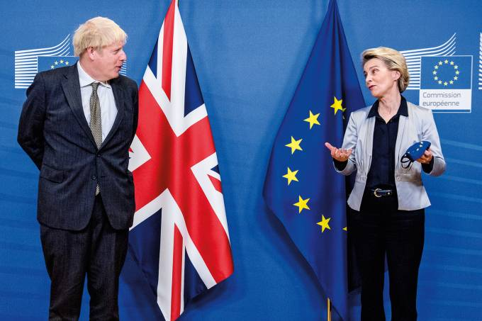 British Prime Minister Boris Johnson in Brussels