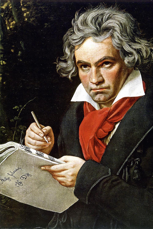 GIGANTE DA MÚSICA -Beethoven em retrato de 1820 do pintor Karl Stieler: a imagem mais famosa do mestre alemão -