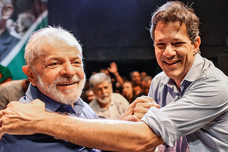 DERROCADA -Lula e Haddad: petistas não estão empolgando como antes -