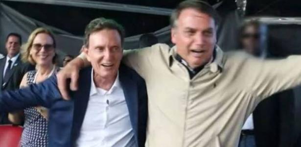 Marcelo Crivella e Bolsonaro dançam em evento evangélico 2