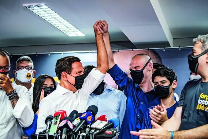 Bruno Covas reeleito em São Paulo