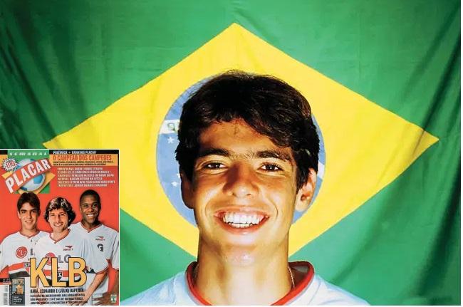 Kaká e sua primeira capa de PLACAR, em 2001