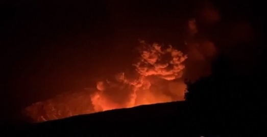 Erupção do vulcão Kilauea, no Havaí