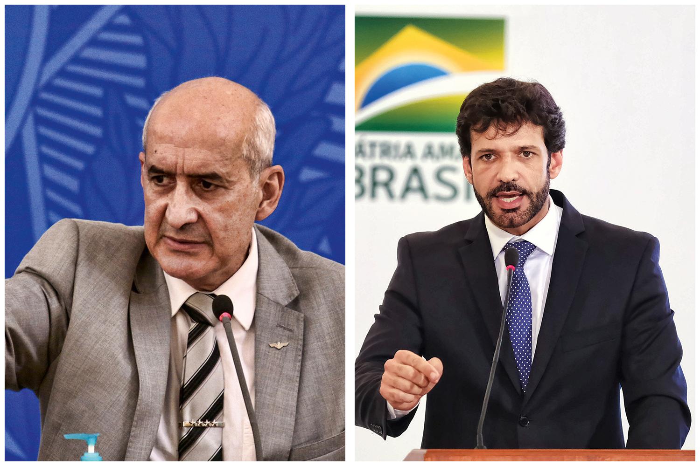 NOS BASTIDORES -O ministro Luiz Eduardo Ramos e o ex-ministro do Turismo Marcelo Álvaro: disputas por cargos, intrigas, desavenças e demissão -