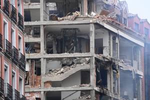 Explosão destrói edifício no Centro de Madri