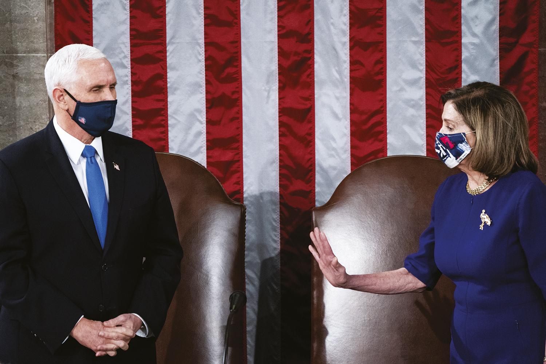 CIVILIDADE -Pence e Pelosi: unidos na confirmação da vitória de Biden -