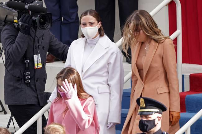 Naomi e Natalie Biden, netas de Joe Biden, na cerimônia de posse do avô - 20/01/2020