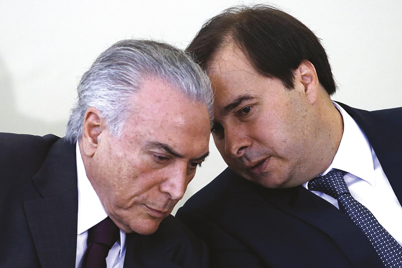 PADRINHOS- Temer e Maia: fundamentais na ascensão política do emedebista -