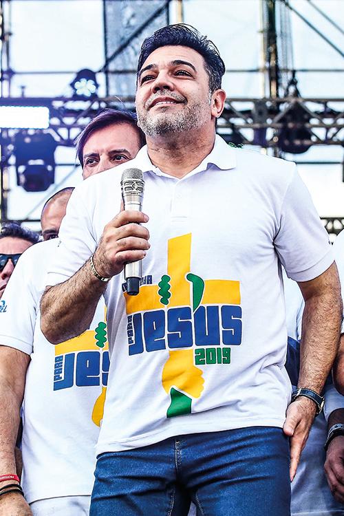 CONSELHEIRO MARCO FELICIANO NA MARCHA PARA CRISTO EM SÃO PAULO - um dos políticos mais próximos ao presidente -