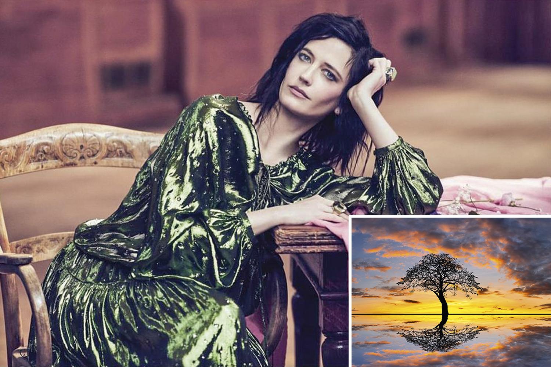 ANOITECER- A atriz francesa Eva Green: descrição suave do entardecer com riqueza de detalhes -