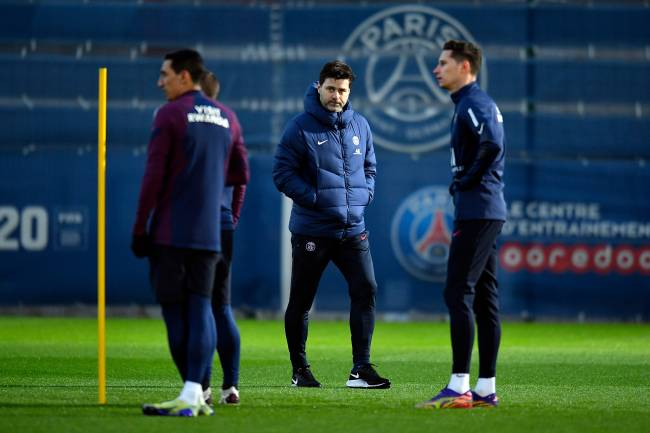 Técnico Mauricio Pochettino comanda seu primeiro treino no PSG