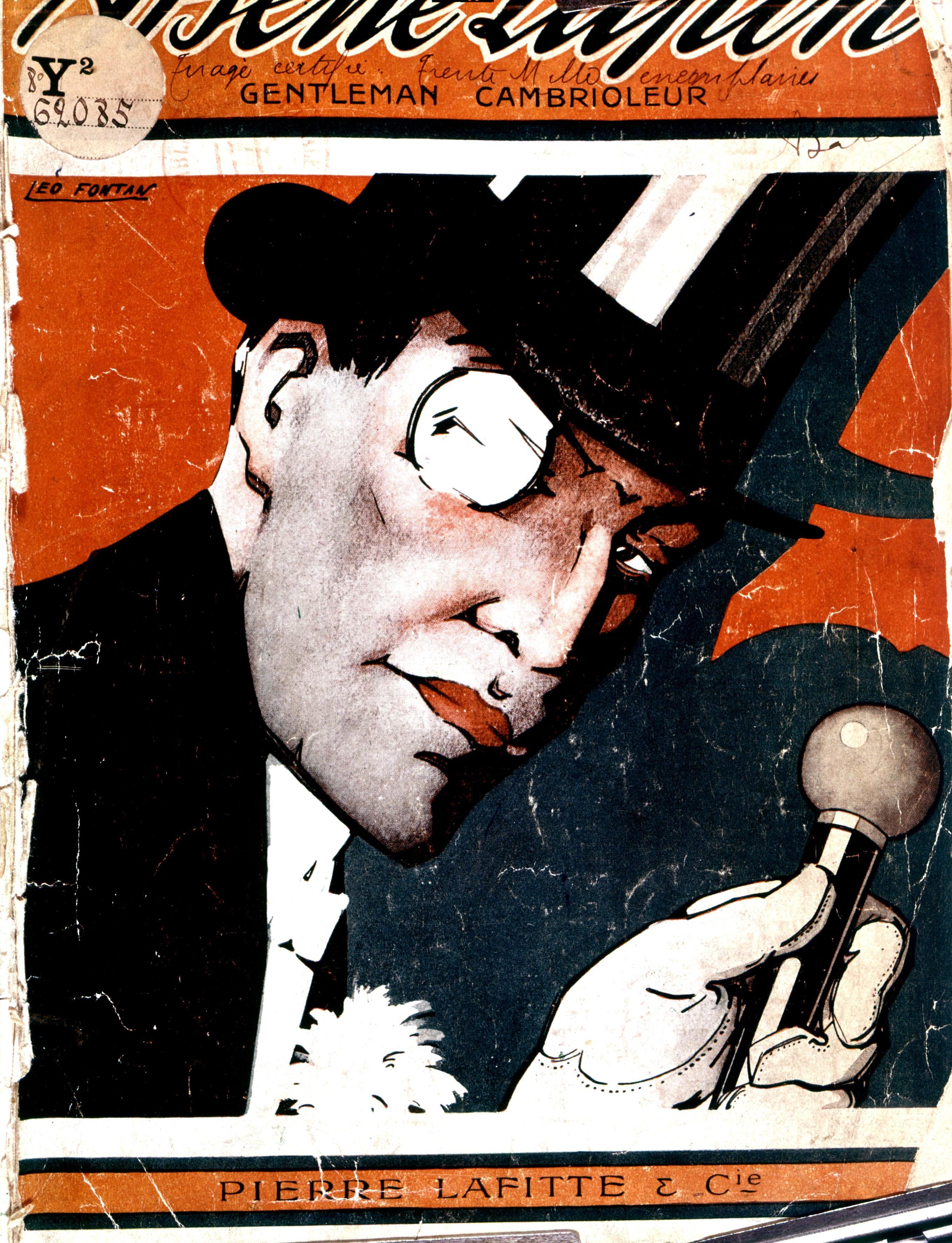 Capa do Livro de Arsène Lupin, de Maurice LeBlanc