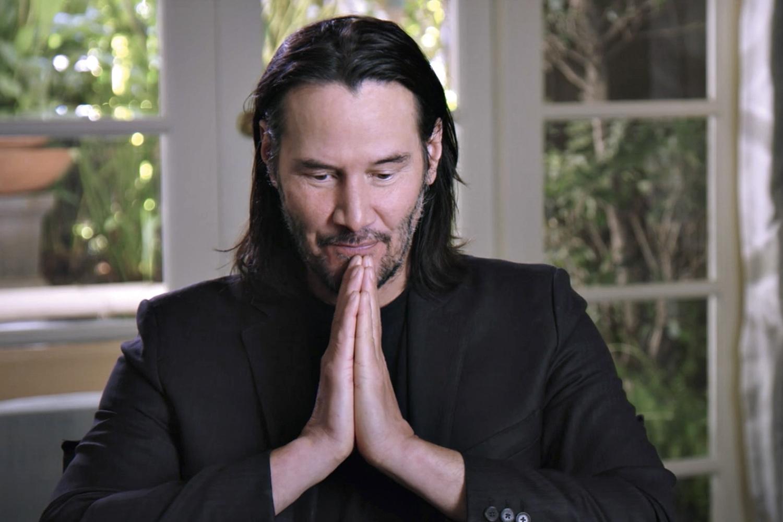 ZEN -Reeves: o ator doa boa parte de seu cachê e associa stress à preocupação com o dinheiro -