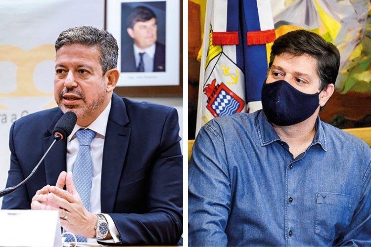 NA CÁMARA -Os deputados Arthur Lira, o favorito (à esq.), e Baleia Rossi: ambos defendem a aprovação dos projetos de reformas estruturantes -