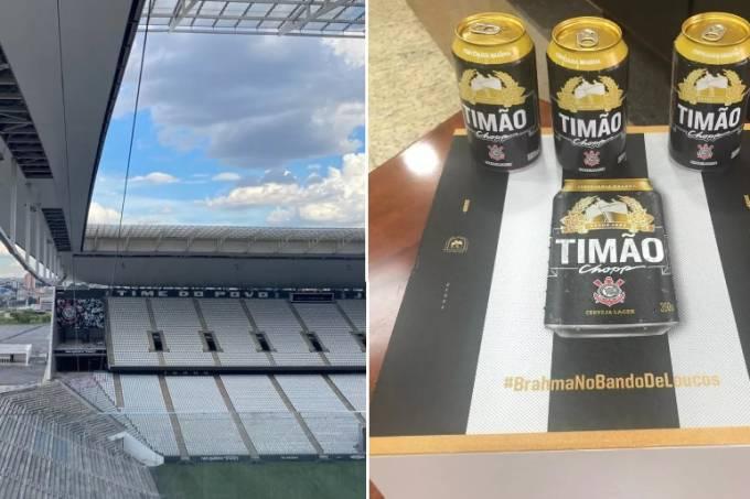 Tirolesa na Arena Corinthians e cervejas Brahma