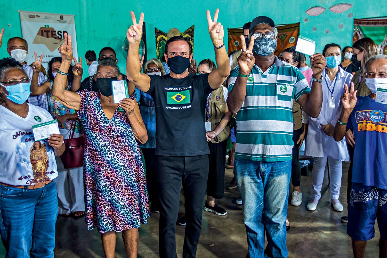 VITÓRIA -Doria: insistência com a vacinação fez o tucano ganhar pontos em sondagens para 2022 -