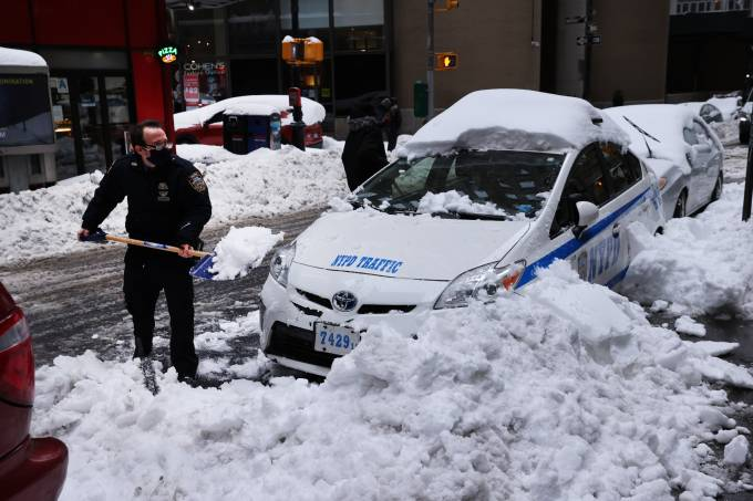 New York Begins To Dig Out From Major Winter Snowstorm