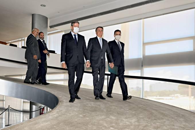 03/02/2021 Presidente da República, Jair Bolsonaro durante cole