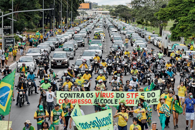 INSANOS -Protesto contra o STF e o Congresso: os bolsonaristas abilolados não devem comandar a agenda do governo -