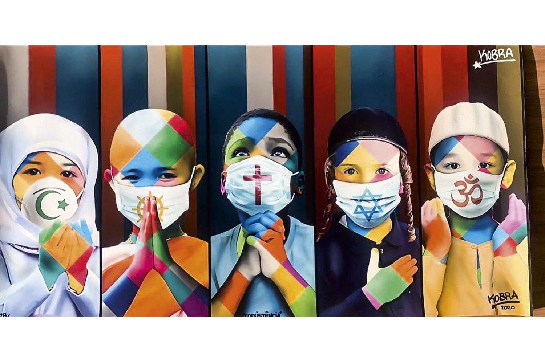 PAZ E AMOR -A obra Coexistência: a arte de rua mobilizada contra o vírus -