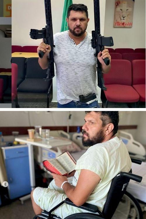 ACIDENTE -Oswaldo Eustáquio: preso e acusado de promover atos antidemocráticos, ele levou um tombo dentro de sua cela, fraturou a coluna vertebral, pode ficar paraplégico e passa por dificuldades financeiras -
