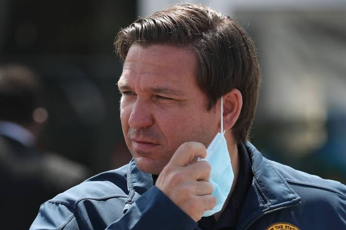 Florida Governor Ron DeSantis Holds Coronavirus Press Briefing