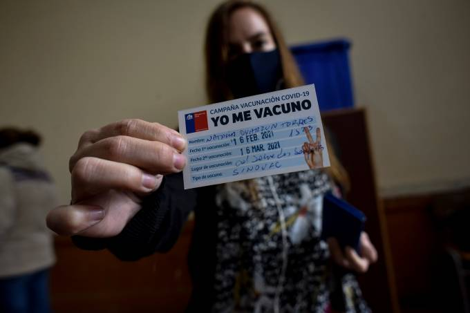 Chile Begins Mass Vaccination Rollout Against Coronavirus For Teachers