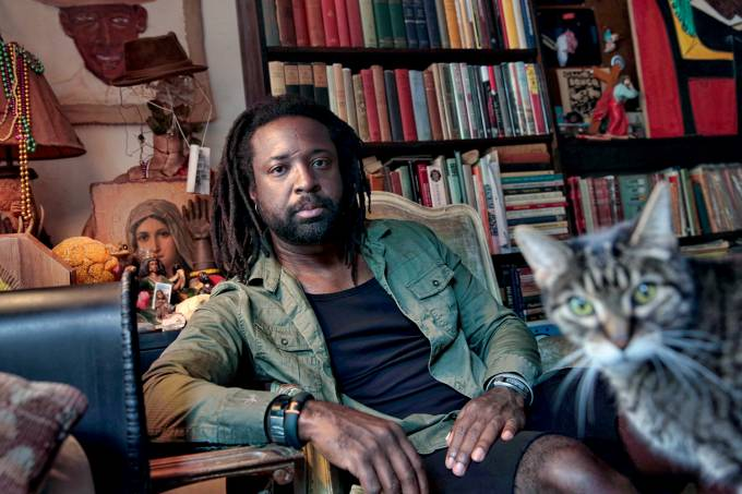 "HARLEM, NEW YORK–SEPT. 20, 2014–Author Marlon James, author of the new novel ""A Brief History of S"