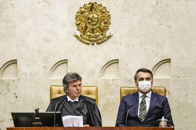Ministro do STF Luiz Fux e Jair Bolsonaro