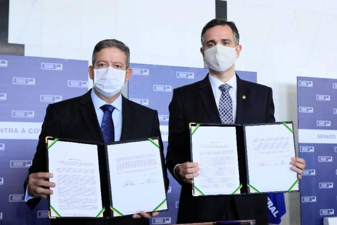Presidente da Câmara, Arthur Lira, com o presidente do Senado, Rodrigo Pacheco – 03/01/2021