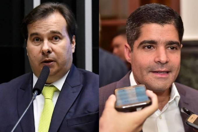 Rodrigo Maia e ACM Neto