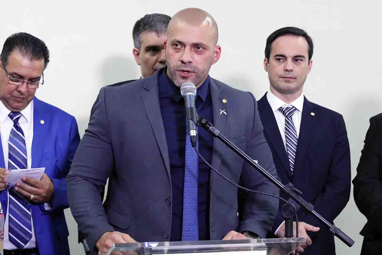 O deputado federal Daniel Silveira -