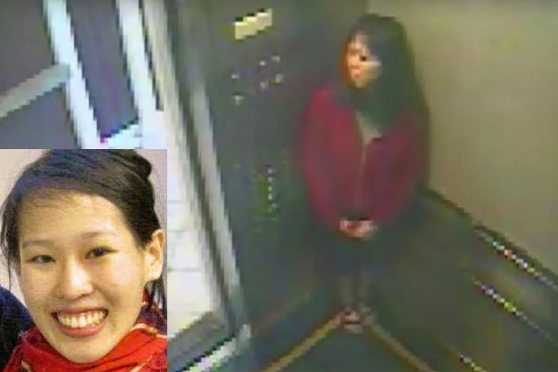 Retrato de Elisa Lam (esq) e últimas imagens da estudante no elevador do Hotel Cecil -