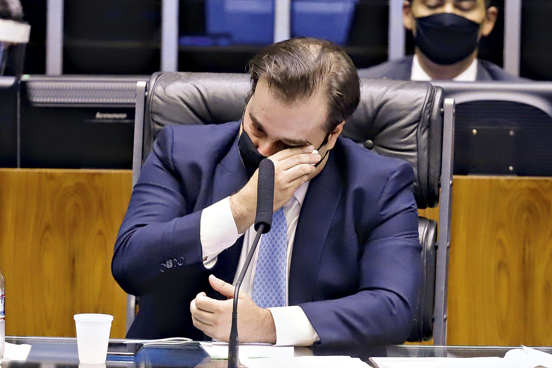 LÁGRIMAS -Maia: derrota na eleição da Câmara compromete planos de uma futura aliança entre o DEM e o PSDB -