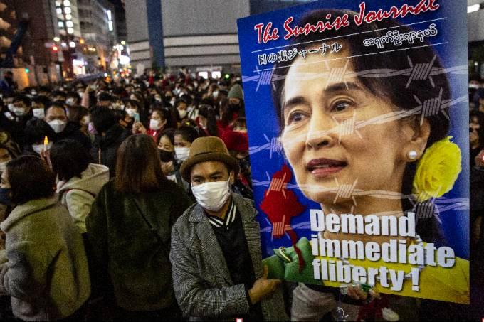 mianmar-protesto